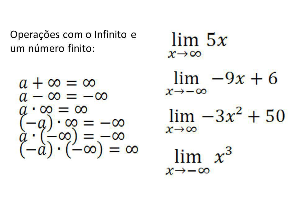 Operações com o Infinito e um número finito: