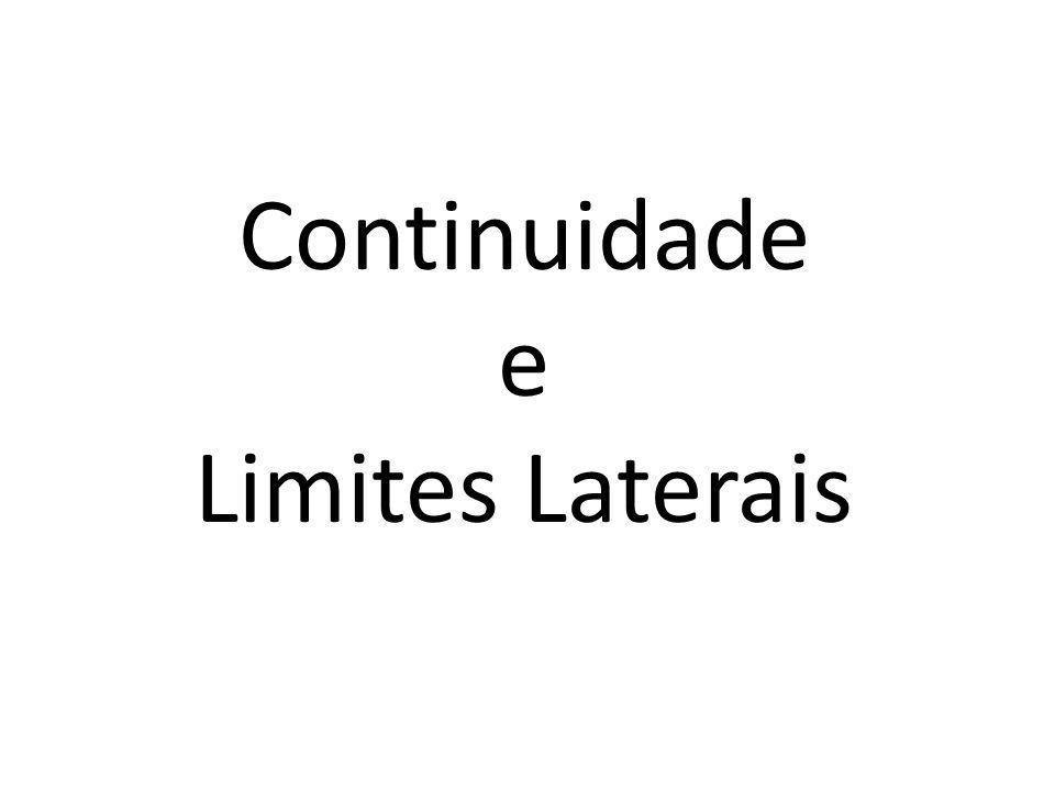 Continuidade e Limites Laterais