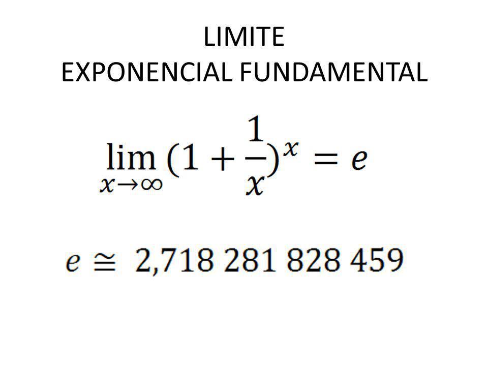 LIMITE EXPONENCIAL FUNDAMENTAL