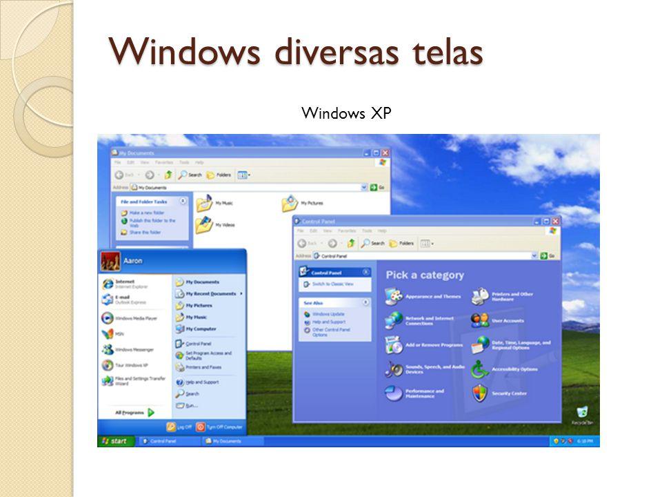 Windows diversas telas Windows XP