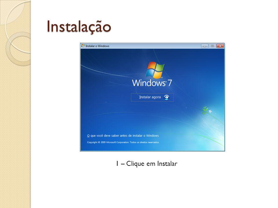 Instalação 1 – Clique em Instalar