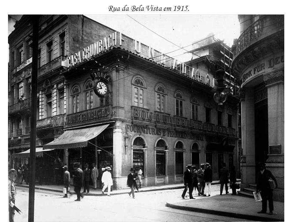 Rua da Bela Vista em 1915.