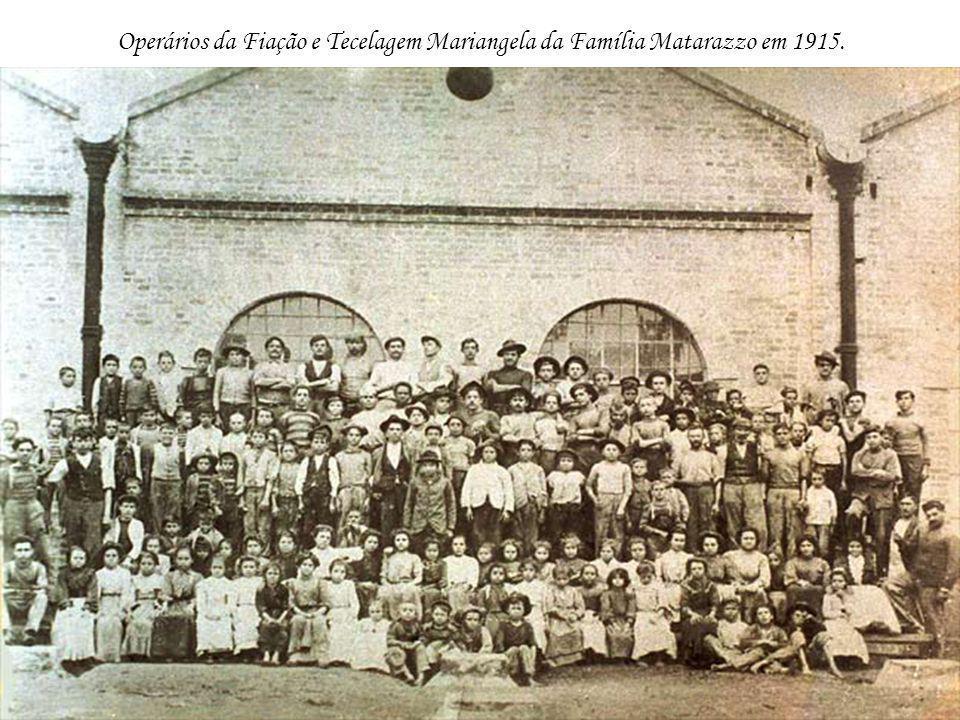 Operários da Fiação e Tecelagem Mariangela da Família Matarazzo em 1915.