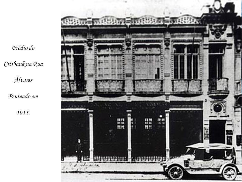 Prédio do Citibank na Rua Álvares Penteado em 1915.