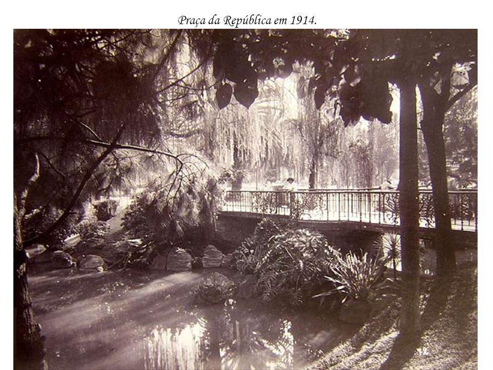 Praça da República em 1914.