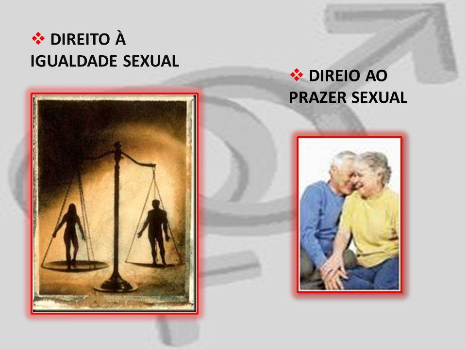 DIREITO À IGUALDADE SEXUAL DIREIO AO PRAZER SEXUAL