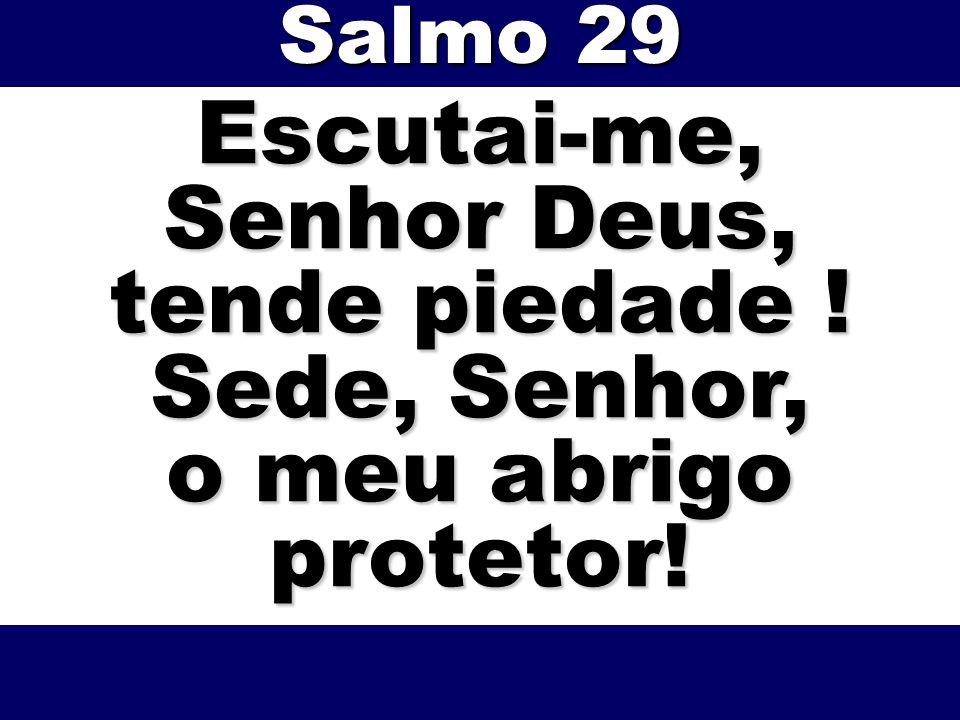 Escutai-me, Senhor Deus, tende piedade ! Sede, Senhor, o meu abrigo protetor! Salmo 29