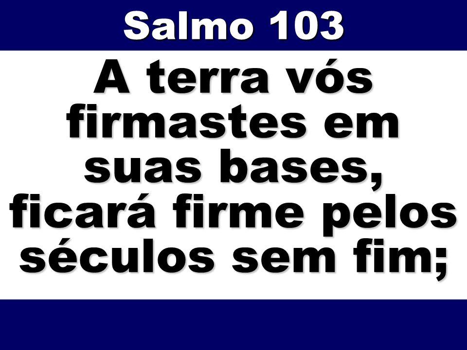 A terra vós firmastes em suas bases, ficará firme pelos séculos sem fim; Salmo 103