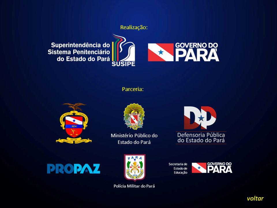 Realização: Parceria: Ministério Público do Estado do Pará Polícia Militar do Pará Secretaria de Estado de Educação voltar