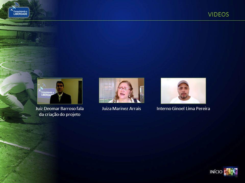 INÍCIO VIDEOS Juiz Deomar Barroso fala da criação do projeto Juiza Marinez Arrais Interno Ginoel Lima Pereira