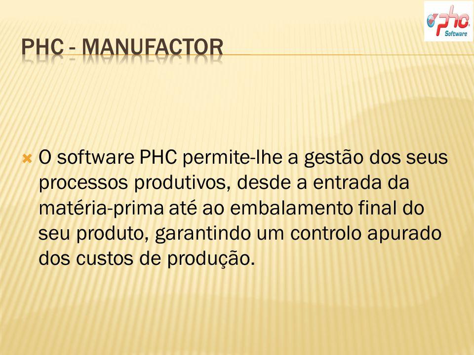 O software PHC permite-lhe a gestão dos seus processos produtivos, desde a entrada da matéria-prima até ao embalamento final do seu produto, garantindo um controlo apurado dos custos de produção.