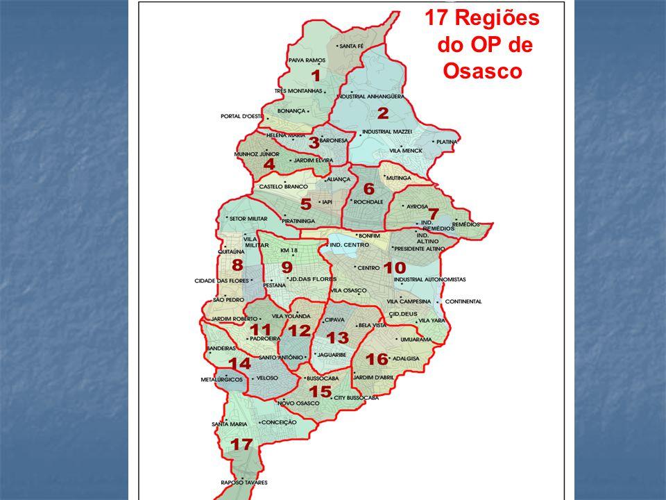 17 Regiões do OP de Osasco