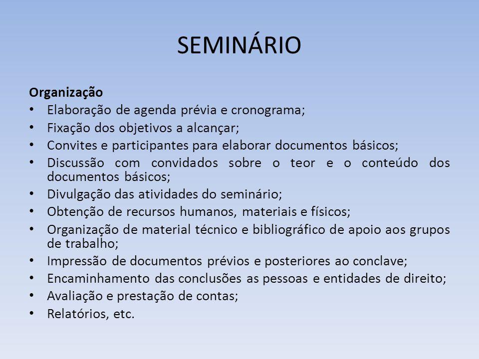 SEMINÁRIO 4.Vantagens Estimula a participação ativa; Apresenta materiais e informações novas; 5.