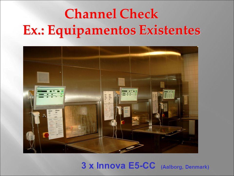 3 x Innova E5-CC (Aalborg, Denmark) Channel Check Ex.: Equipamentos Existentes