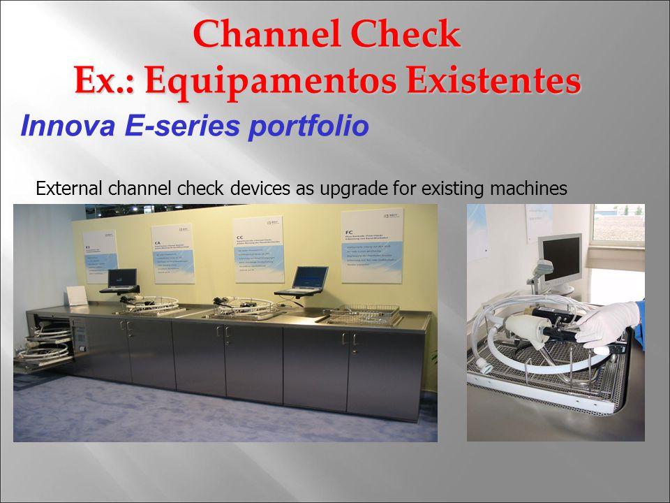 Innova E-series portfolio External channel check devices as upgrade for existing machines Channel Check Ex.: Equipamentos Existentes
