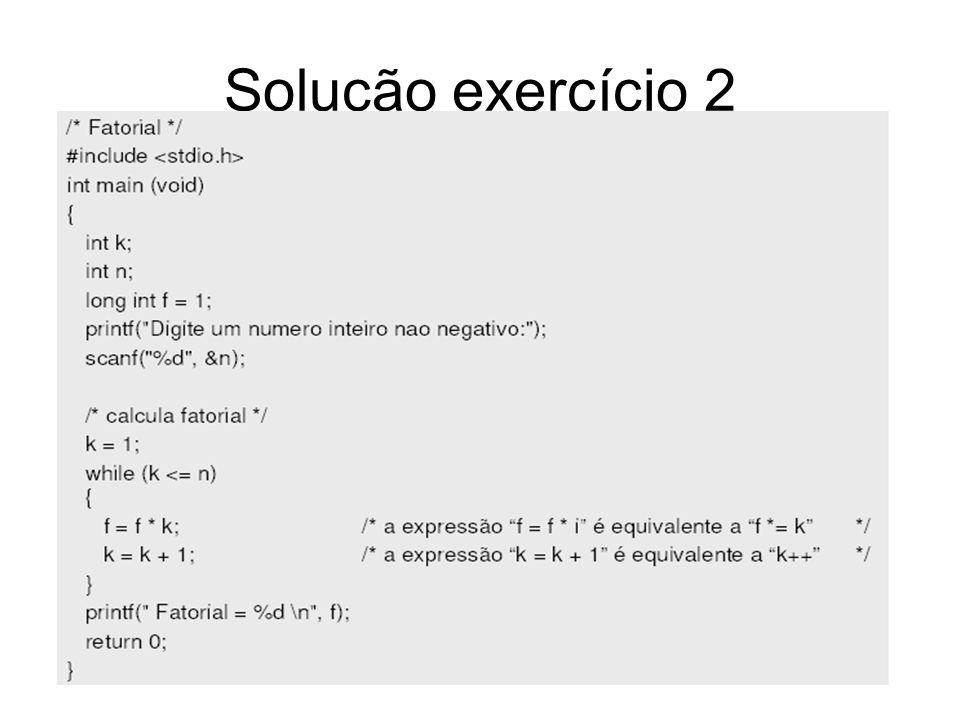 Solução exercício 2