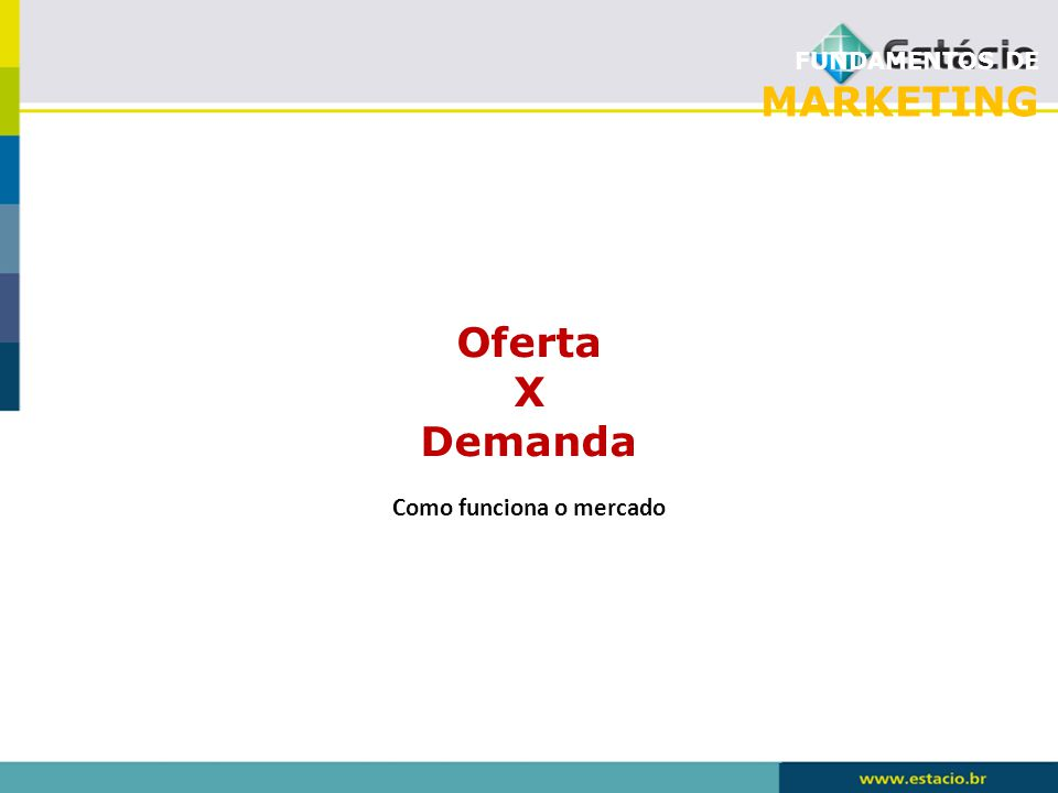 FUNDAMENTOS DE MARKETING Oferta X Demanda Como funciona o mercado