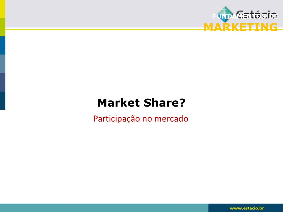 FUNDAMENTOS DE MARKETING Market Share? Participação no mercado
