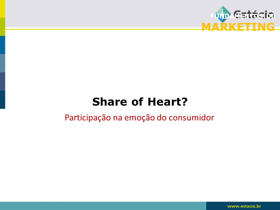 FUNDAMENTOS DE MARKETING Share of Heart? Participação na emoção do consumidor