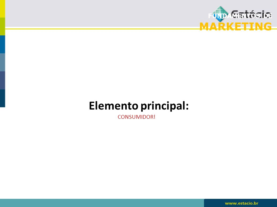 FUNDAMENTOS DE MARKETING Elemento principal: CONSUMIDOR!