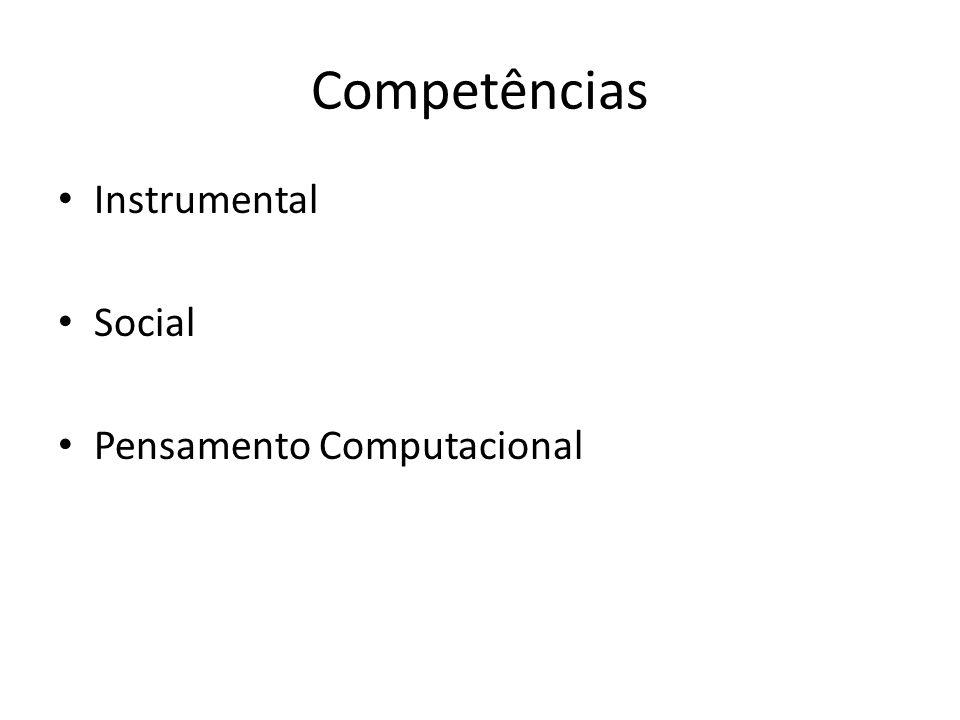 Competências Instrumental Social Pensamento Computacional
