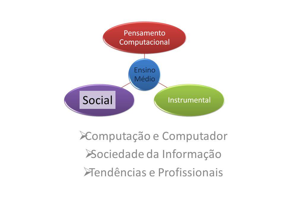 Computação e Computador Sociedade da Informação Tendências e Profissionais Social