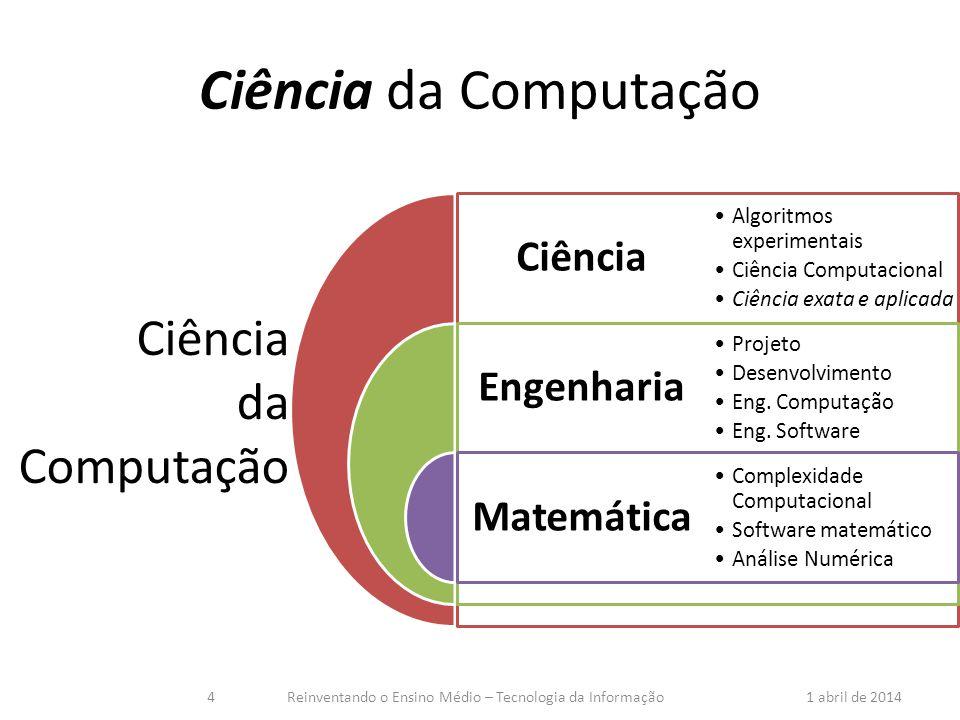 Ciência da Computação Ciência da Computação tem tanto a ver com o computador como a Astronomia com o telescópio, a Biologia com o microscópio, ou a Química com os tubos de ensaio.