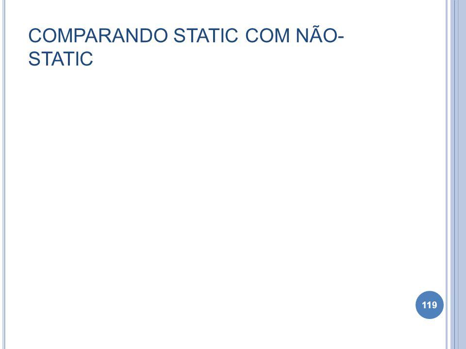 COMPARANDO STATIC COM NÃO- STATIC 119