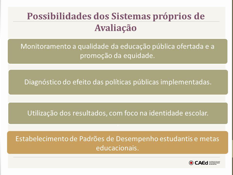 Possibilidades dos Sistemas próprios de Avaliação Diagnóstico do efeito das políticas públicas implementadas. Utilização dos resultados, com foco na i