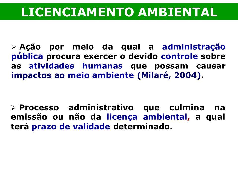 Ação por meio da qual a administração pública procura exercer o devido controle sobre as atividades humanas que possam causar impactos ao meio ambient