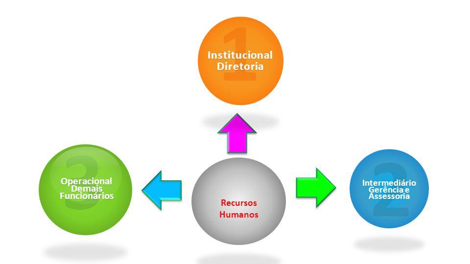 Recursos Humanos 1InstitucionalDiretoria 2Intermediário Gerência e Assessoria 3Operacional Demais Funcionários