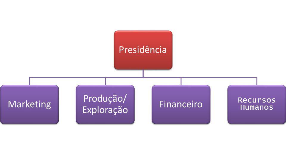 PresidênciaMarketing Produção/ Exploração Financeiro Recursos Humanos