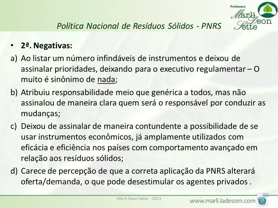 Política Nacional de Resíduos Sólidos - PNRS 2ª.
