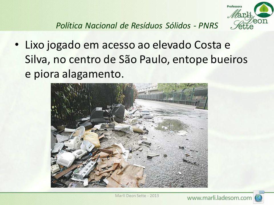 Marli Deon Sette - 20136 Política Nacional de Resíduos Sólidos - PNRS Desabamento no lixão no Rio de Janeiro deixa vários mortos.