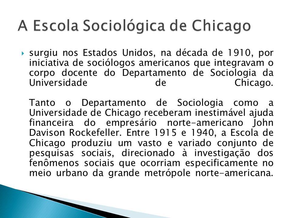 surgiu nos Estados Unidos, na década de 1910, por iniciativa de sociólogos americanos que integravam o corpo docente do Departamento de Sociologia da