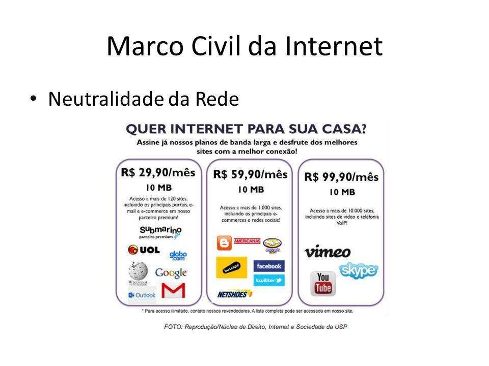 Marco Civil da Internet Neutralidade da Rede