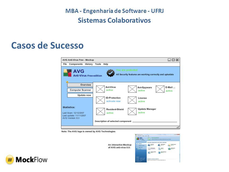 MBA - Engenharia de Software - UFRJ Sistemas Colaborativos Casos de Sucesso