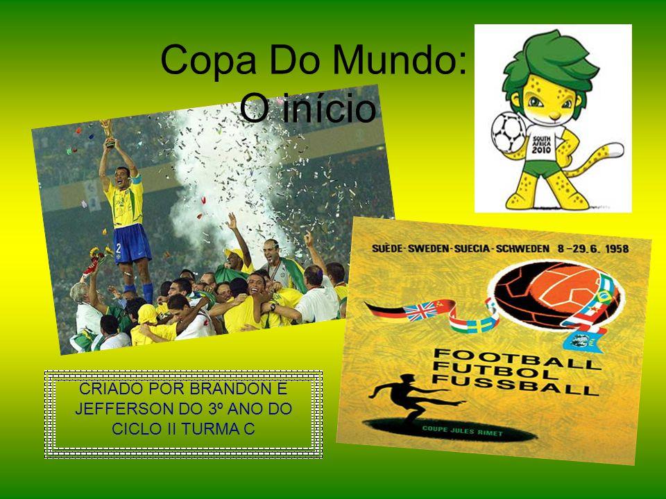 CRIADO POR BRANDON E JEFFERSON DO 3º ANO DO CICLO II TURMA C Copa Do Mundo: O início