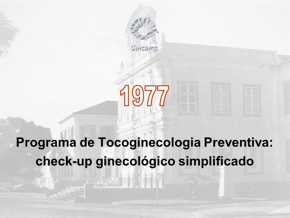 Programa de Tocoginecologia Preventiva: check-up ginecológico simplificado