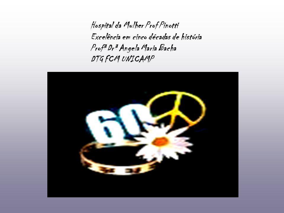 Hospital da Mulher Prof Pinotti Excelência em cinco décadas de história Profª Drª Angela Maria Bacha DTG FCM UNICAMP