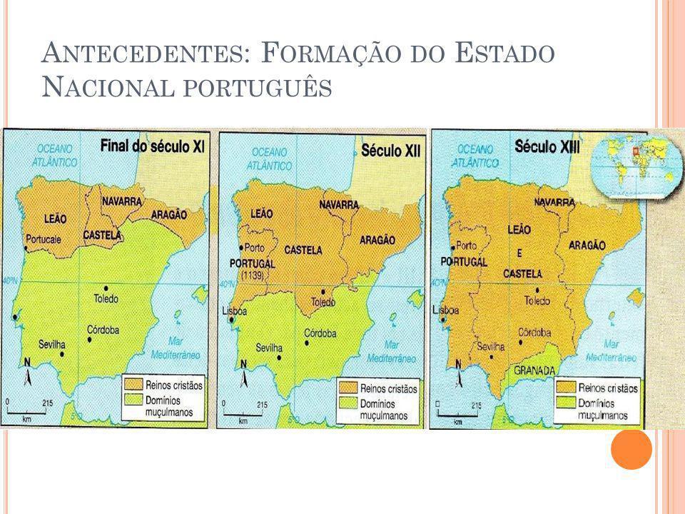 A NTECEDENTES : F ORMAÇÃO DO E STADO N ACIONAL PORTUGUÊS