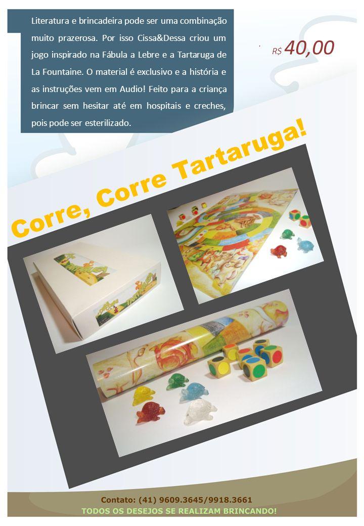 Corre, Corre Tartaruga!. Literatura e brincadeira pode ser uma combinação muito prazerosa. Por isso Cissa&Dessa criou um jogo inspirado na Fábula a Le