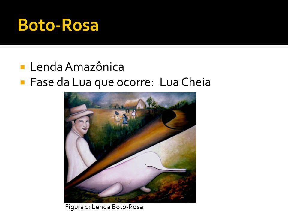 Lenda Amazônica Fase da Lua que ocorre: Lua Cheia Figura 1: Lenda Boto-Rosa