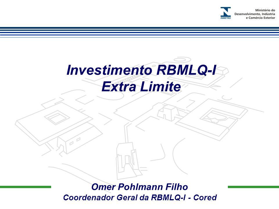 Marca do evento Omer Pohlmann Filho Coordenador Geral da RBMLQ-I - Cored Investimento RBMLQ-I Extra Limite