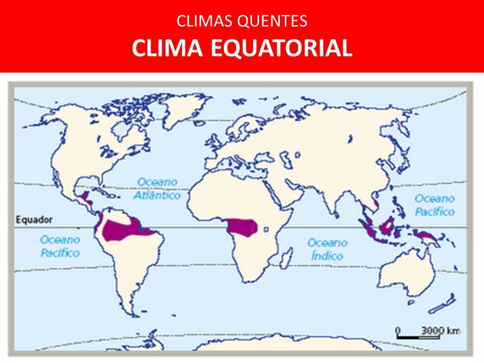 CLIMAS QUENTES CLIMA EQUATORIAL