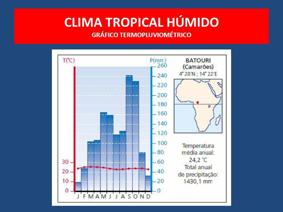 CLIMA TROPICAL HÚMIDO GRÁFICO TERMOPLUVIOMÉTRICO