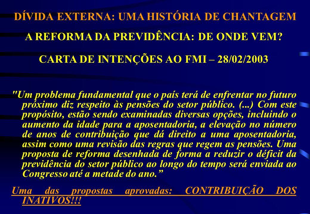 DÍVIDA EXTERNA: UMA HISTÓRIA DE CHANTAGEM A REFORMA DA PREVIDÊNCIA: DE ONDE VEM.