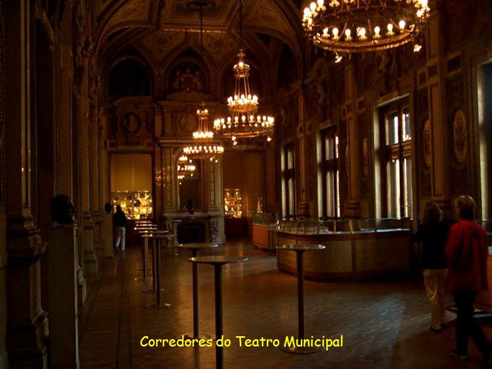 Viena, do majestoso Teatro Municipal, um dos maiores e mais luxuosos de toda Europa, patrimônio cultural da cidade.........