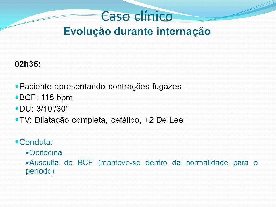 Tônus – atonia uterina Causa mais comum de SPP Procedimento inicial: Massagem uterina bimanual e compressão Agentes ocitócicos Ocitotina Metilergonovina Prostaglandinas Tamponamento Abordagem cirúrgica: Ligaduras arteriais (embolizaçõe seletivas) Sutura de B-Linch Histerectomia