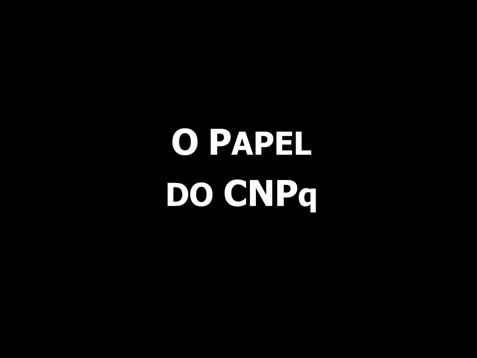 O P APEL DO CNP q